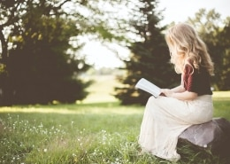 woman reading the bible about fear